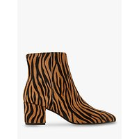 shop for Dune Omarii Block Heel Ankle Boots, Tiger Print Hair at Shopo
