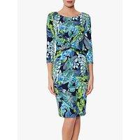 shop for Gina Bacconi Glynda Jersey Dress, Blue/Green at Shopo