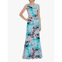 shop for Gina Bacconi Fenella Jersey Maxi Dress, Grey/Aqua at Shopo