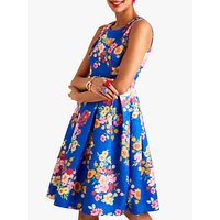 shop for Yumi Sunflower Jacquard Dress, Blue at Shopo