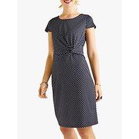 Yumi Spot Jersey Dress, Black