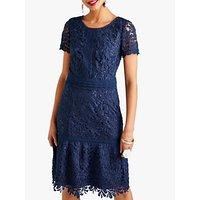 shop for Yumi Guipure Lace Dress, Dark Navy at Shopo