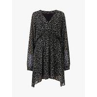 AllSaints Nicola Pippa Flare Dress, Black