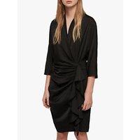 AllSaints Issey Draped Dress, Black