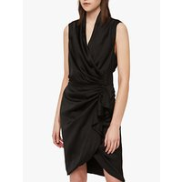 AllSaints Cancity Gathered Dress, Black