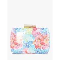 Dune Blossome Squares Print Clutch Bag, Multi