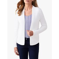 Pure Collection Cotton Knitted Cardigan, White