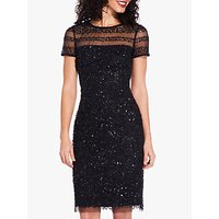 Adrianna Papell Beaded Cocktail Dress, Black