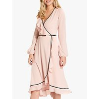 Adrianna Papell Pebble Wrap Dress, Lotus