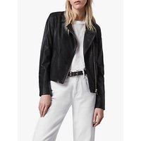 AllSaints Vela Leather Biker Jacket, Black