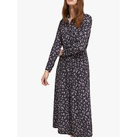 shop for French Connection Felicienne Drape Shirt Dress, Utility Blue/Sweet Pea Multi at Shopo