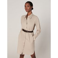 Winser London Cotton Blend Shirt Dress, Stone