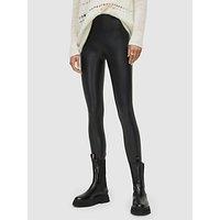 AllSaints Cora Leather-Look Leggings, Black