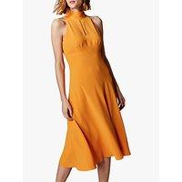 Karen Millen Empire Wait Dress, Orange