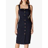 Karen Millen Buttoned Pinafore Dress