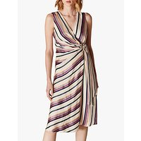 Karen Millen Striped Wrap Dress, Multi