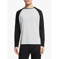 Kin Crew Neck Baseball, Grey/Black