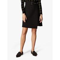 Karen Millen Wrap Mini Skirt, Black