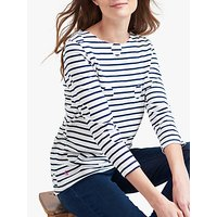 Joules Harbour Print Jersey Top, Spot Stripe