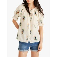 Madewell Smock Sleeve Blouse, Floral Antique Lace