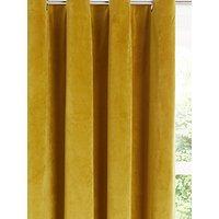 John Lewis and Partners Lustre Velvet Pair Lined Eyelet Curtains