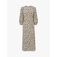 L.K.Bennett Kaia Flared Leopard Print Dress
