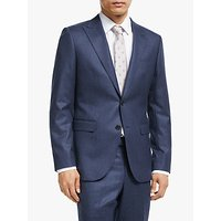 John Lewis and Partners Merino Flannel Tailored Suit Jacket, Blue