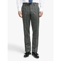 John Lewis and Partners Flannel Check Tailored Suit Trousers, Grey