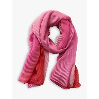 Betty Barclay Pleated Chiffon Scarf, Red/pink
