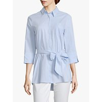 Betty Barclay Pinstripe Waist Tie Shirt, Blue/White