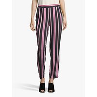 shop for Betty Barclay Relaxed Striped Trousers, Black/Rosé at Shopo