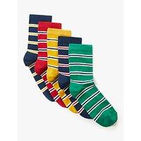 John Lewis & Partners Boys' Coloured Stripe Socks, Pack of 5, Multi