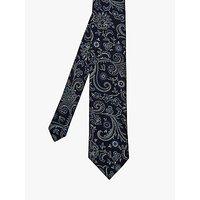 Ted Baker Matty Paisley Silk Tie, Navy