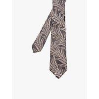 Ted Baker Baysil Leaf Print Silk Tie, Grey
