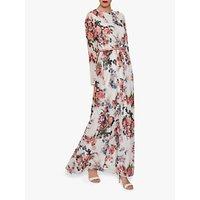 shop for Gina Bacconi Dionne Chiffon Belted Maxi Dress, Rose/Multi at Shopo