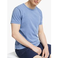 John Lewis and Partners Indigo Cotton T-Shirt
