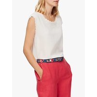 Brora Embroidered Silk Shell Top