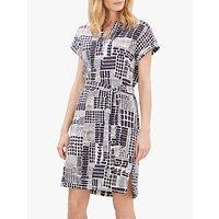 Jaeger Tile Print Linen Dress, Multi