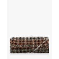 Dune Esparkle Ombre Diamante Embellished Clutch Bag, Pewter Metallic