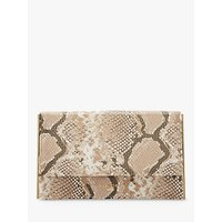 Dune Binkiie Clutch Bag, Natural Snake