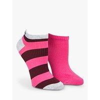 Calvin Klein Bold Stripe Liner Socks, Pack Of 2