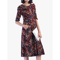 Jolie Moi Abstract Jersey Dress, Multi