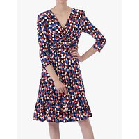 Jolie Moi Retro Geometric Flared Dress, Multi