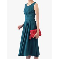 shop for Jolie Moi Cross Belted Dress, Petrol Blue at Shopo