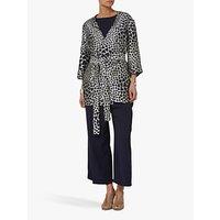 Helen McAlinden Jacquard Kimono Jacket, Cream/Navy