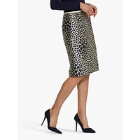Helen McAlinden Kylie Jacquard Pencil Skirt, Cream/Navy