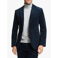 John Lewis and Partners Cotton Corduroy Suit Jackett, Blue