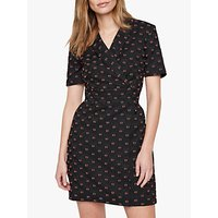 Damsel in a Dress Vivienne Textured Dress, Black/Red