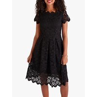 shop for Yumi Floral Lace Dress, Black at Shopo
