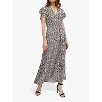 shop for French Connection Aubi Floral Maxi Dress, Utility Blue/Classic Cream at Shopo